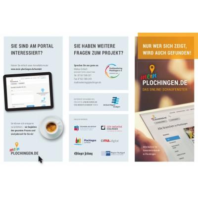 Flyer zum Online Schaufenster